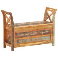 vidaXL Bancă de hol, 103 x 33 x 72 cm, lemn masiv reciclat