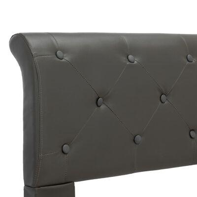 vidaXL Cadru de pat, gri, 90 x 200 cm, piele ecologică