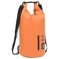 vidaXL Rucsac impermeabil cu fermoar, portocaliu, 30 L, PVC