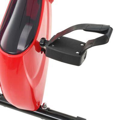 vidaXL Bicicletă magnetică X-Bike cu măsurare puls, negru și roșu