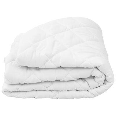 vidaXL Protecție pentru saltea matlasată, alb, 90 x 200 cm, groasă