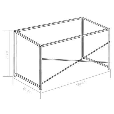 vidaXL Birou de calculator, alb, 120 x 60 x 70 cm