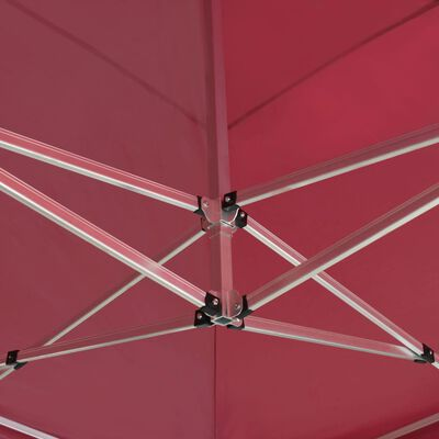 vidaXL Cort de petrecere pliabil profesional, roșu vin, 6x3m, aluminiu
