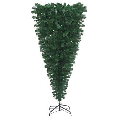 vidaXL Pom de Crăciun artificial inversat, cu suport, verde, 240 cm