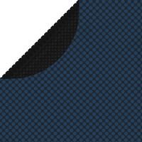vidaXL Folie solară plutitoare piscină, negru/albastru, 356 cm, PE