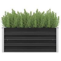 vidaXL Strat înălțat de grădină antracit 100x40x45 cm oțel galvanizat