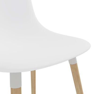 vidaXL Scaune de bucătărie, 4 buc., alb, plastic
