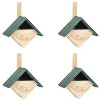 vidaXL Căsuțe de păsărele, 4 buc., 24 x 16 x 30 cm, lemn de brad