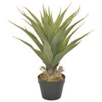 vidaXL Plantă artificială yucca cu ghiveci, verde, 60 cm