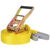 vidaXL Coardă echilibru, 15 m x 50 mm, 150 kg, galben