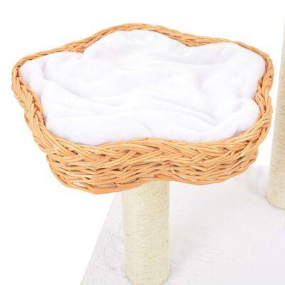 vidaXL Ansamblu pentru pisici cu stâlp funie sisal, natural, salcie