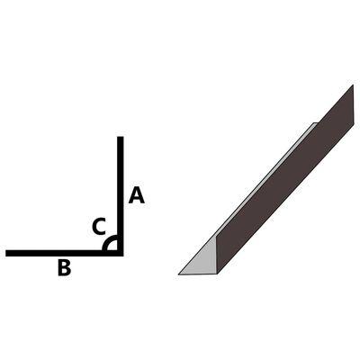 vidaXL Profile de colț în L 90° 5 buc maro 170 cm 100x100 mm aluminiu