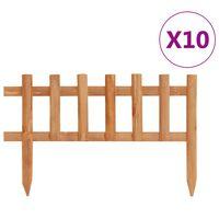 vidaXL Borduri de gazon,10 buc., 4,4 m, lemn de brad