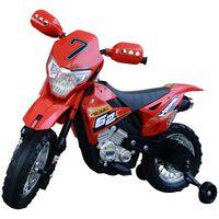 Motoreta Motocross Electrica Pentru Copii, Rosu, 107x53x70cm