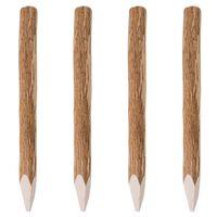vidaXL Stâlpi de gard ascuțiți, 4 buc., 90 cm, lemn de alun