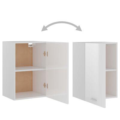vidaXL Dulap suspendat, alb extralucios, 39,5 x 31 x 60 cm, PAL