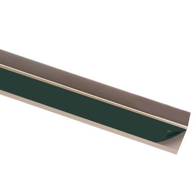 vidaXL Profile trepte în formă de L, 5 buc., maro, 90 cm, aluminiu
