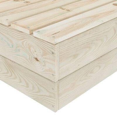 vidaXL Set mobilier grădină din paleți, 10 piese, cu perne, lemn de molid