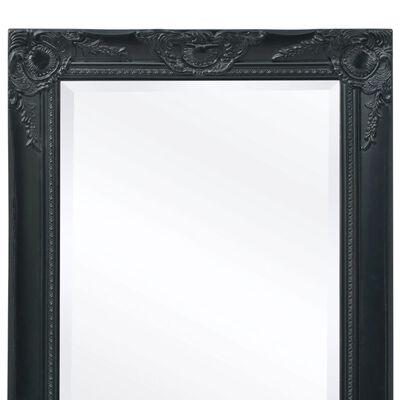 vidaXL Oglindă de perete în stil baroc, 100 x 50 cm, negru