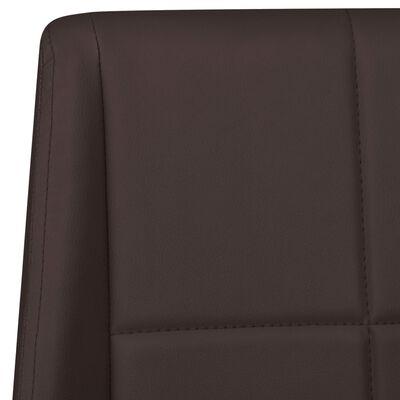 vidaXL Scaune de bucătărie consolă, 2 buc., maro, material textil