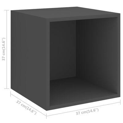 vidaXL Set dulap TV, 4 piese, gri, PAL