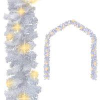 242424 Ghirlandă de Crăciun cu becuri LED, alb, 20 m