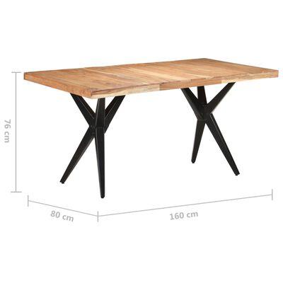 vidaXL Masă de bucătărie, 160x80x76 cm, lemn masiv de acacia