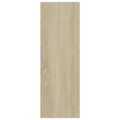 vidaXL Bibliotecă/Servantă alb & stejar Sonoma 66x30x97,8 cm PAL