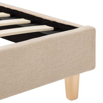 vidaXL Cadru de pat, bej, 100 x 200 cm, material textil