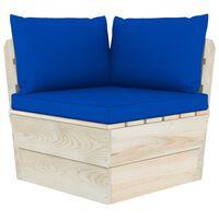 vidaXL Canapea de grădină din paleți, colțar, cu perne, lemn molid