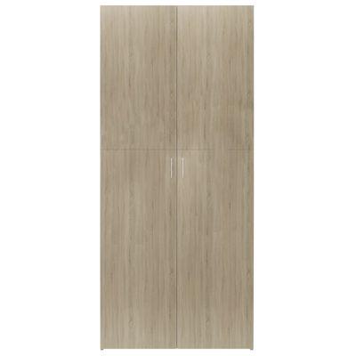 vidaXL Pantofar, stejar Sonoma, 80 x 35,5 x 180 cm, PAL