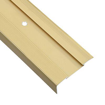 vidaXL Profile trepte în formă de L, 15 buc., auriu, 134 cm, aluminiu