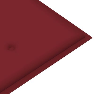 vidaXL Pernă pentru bancă de grădină, roșu vin, 180x50x4 cm, textil