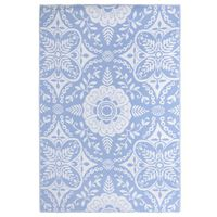 vidaXL Covor de exterior, bleu, 190x290 cm, PP