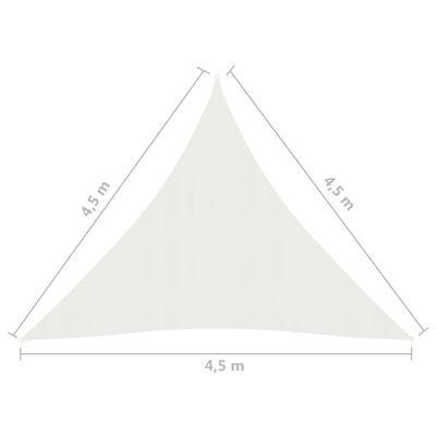 vidaXL Pânză parasolar, alb, 4,5x4,5x4,5 m, HDPE, 160 g/m²