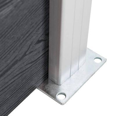 vidaXL Stâlpi de gard, 2 buc., 185 cm, aluminiu