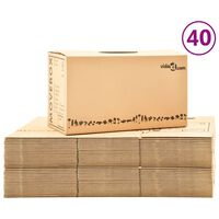 vidaXL Cutii pentru mutare din carton XXL 40 buc. 60 x 33 x 34 cm