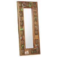 vidaXL Oglindă cu placare Buddha, 50x110 cm, lemn masiv reciclat