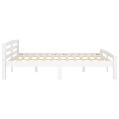 vidaXL Cadru de pat, alb, 180x200 cm, lemn de pin masiv