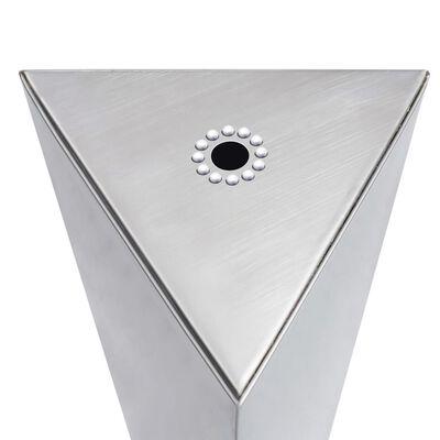 vidaXL Fântână de grădină, argintiu, 37,7x32,6x110 cm, oțel inoxidabil