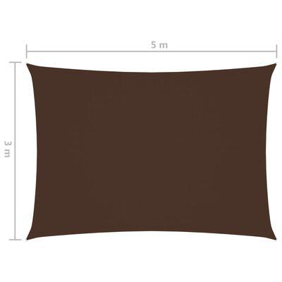 vidaXL Parasolar, maro, 3x5 m, țesătură oxford, dreptunghiular