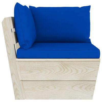 vidaXL Set mobilier grădină din paleți cu perne, 8 piese, lemn molid