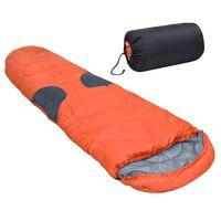 vidaXL Sac de dormit, portocaliu, 2000 g, -5 ℃